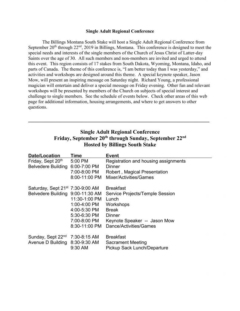 Primary Sacrament Meeting Program 2019